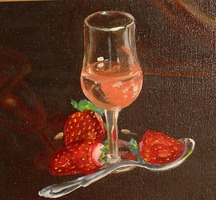 Strawberries-wine