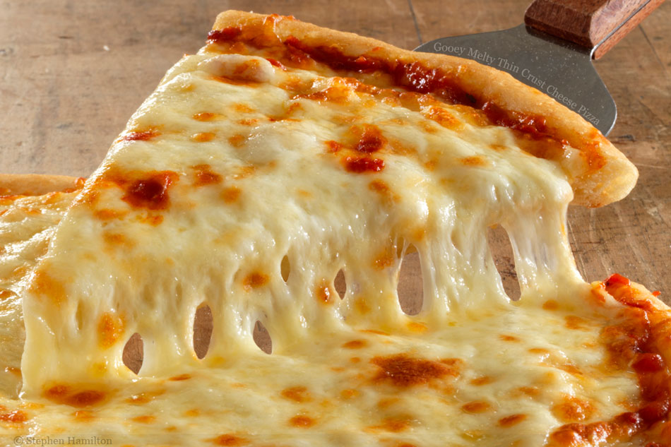 pizza with a lot of cheese