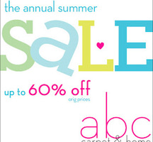 ABC Carpet &amp; Home Summer Sale