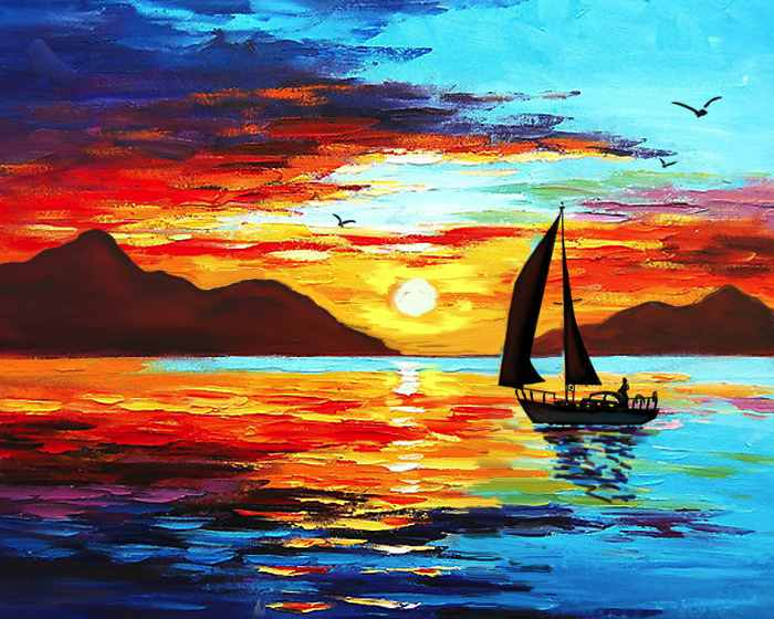 Painting-lounge-sunset-voyage-2